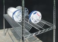 Electro - Static Discharge ESD Chrome Storage SMT Reel Shelving With Wire Mesh