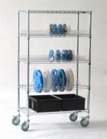 5 Tiers Esd Pcb Racks / Pcb Storage Rack System For Electronics Industry