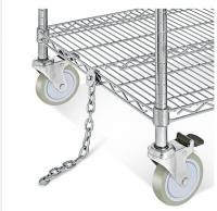 Electrostatic Discharge Chrome Wire Shelving Trolley 3 Tier For Electronics