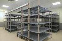 Chrome - Plated High Density Storage System , Top Track Mobile Wire Shelving For