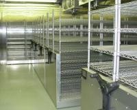 Custom Made High Density Storage System , Sliding Wire Shelving With Floor Track