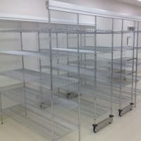 Double Deep High Density Wire Shelving Sliding Track Storage System