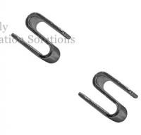 SS Wire Shelving Parts S Hook For Add On Units , Industrial Metal Shelving Parts