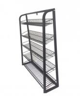 Black Wire 5 Layers Supermarket Display Shelves For Chewing Gums
