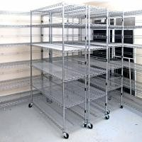 """6 Tier 72"""" Long Healthcare Storage Industrial Wire Shelving Adjustable Chrome"""