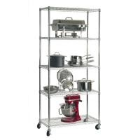 """Zinc Coated Industrial Wire Shelving With 5"""" Casters For Cleanroom Equipment"""