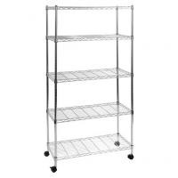 Galvanized Commercial Wire Shelving Metal Storage Rack Unit For Hygiene Food