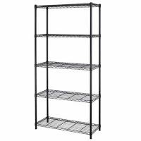 Black 5 - Layers Commercial Wire Shelving Unit For Healthcare Product Storage