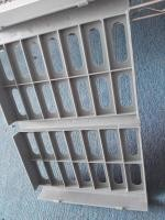 Grey Commercial Wire Shelving , Food Storage Anti - Corrosion Polymer Racking