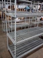 Carbon Steel Or SUS Upright Material Commercial Wire Shelving , Anti - Microbial