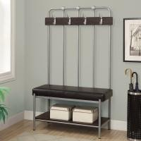 Metal Entry Storage Bench With Coat Rack & Hooks Black Wire Rack Shelving