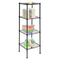 Living Room Basic 4 Tier Home Wire Shelving Units / Chrome Wire Kitchen Shelving