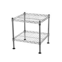 """2 Tier 12"""" Deep Chrome Light Duty Home Kitchen Wire Shelving Units With NSF"""