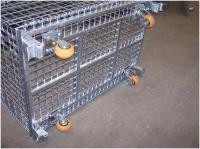 Heavyweight Loads Wire Folding Bulk Containers For Warehouse Storage And