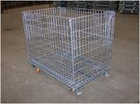 Stackable Collapsible Wire Container With Casters - 48 X 40 Heavy Capacity