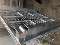 Hot Dipped Galvanization Coating Pallet Collapsible Wire Container With Caster