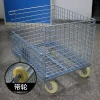 Heavy Duty Galvanized Collapsible Wire Container For Freezers Passed Salt Spray