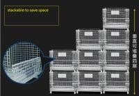 Industrial 1500kg Loading Stackable Space Saving Collapsible Wire Cage Container