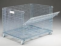 """Collapsible Folding Durable 2"""" X 2"""" Collapsible Wire Mesh Container With Lid"""