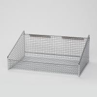 Stainless Steel Chrome Plate Stackable Wall Wire Baskets Storage , Small Wire