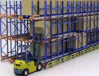 Seafood Cold Storage Drive In Pallet Racking High Loading Weight