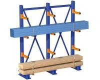 Metal Q235 Cantilever Lumber Storage Racks in Red / Blue Color