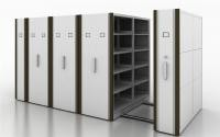 Manual Assist Push - Pull Rolling Mobile Shelf Storage Unit With 2 Bays