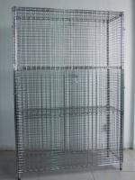 """40"""" X 18"""" X 72"""" Wire Utility Cart , Logistics Laundry Wire Roll Cage Container"""