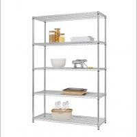 Classics 5 Tier Steel Wire Shelving Chrome Rack Unit In Work Place Commercial