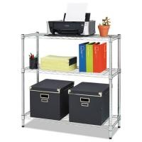 "5"" D X 12"" W X 14"" H Chrome Finish Commercial Wire Shelving 45kg Each Layer"