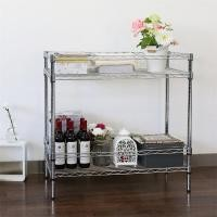 Cafeteria Commercial Wire Shelving 4 Layers Adjustable Metal Rack Dining