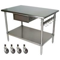 NSF Kitchen Working Desk Food Storage Equipment / Dining Hall Meal Prepare Table
