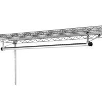 Garment Hanger Tube With Brackets For Hanging Clothing , Metal Storage Rack