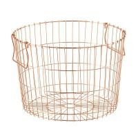 Industrial Style Fashionable Sturdy Copper Metal Wire Baskets For Storage
