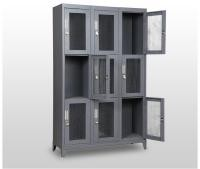 Military Wire Mesh Storage Locker Weapon Storage Cabinets , Large Locking Metal