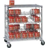 Mobile Can Storage Rack Kits 4 Tier Heavy Duty Shelving Unit High Capacity