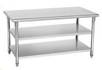 SS304 Anti Rust Heavy Duty Catering Work Table With Sold Shelf , Metal Rack