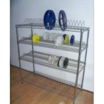 PCB Material SMT Reel Shelving ,ESD Reel Storage Rack With Casters Available