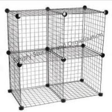 DIY Grid Wire Modular Cube Cage Versatile Shelving Easy Assemble Custom Color
