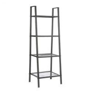 Four Layers Home Wire Shelving For Collection , Black Or White Metal Iron