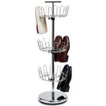 Carbon Steel Or SS 304 Home Wire Shelving White Boot Shoe Rack Vertical Storage