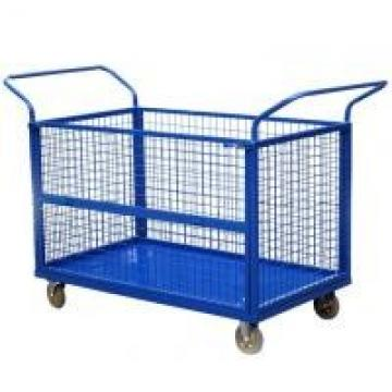 CE Collapsible Wire Container , Capacity 300kg U - Type Handle Platform Truck