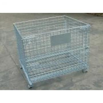 Foldable Wire Mesh Container Q235 50x100 Wire Mesh Pallet Cages