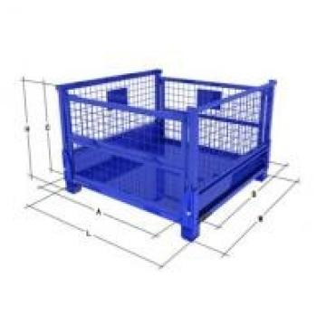 Durable Collapsible Wire Container Transport Packaging Metal Pallet Cage Four