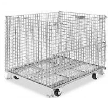 500 - 1000kg Metal Wire Container Storage Cages For Material Handling