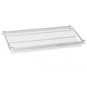 Unique Chrome Plated Steel Slanted Wire Shelving For Food Display