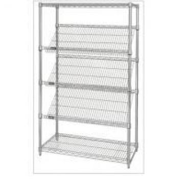 Slanted Display Angled Metal Shelf Easier For Customer to See & Access Items