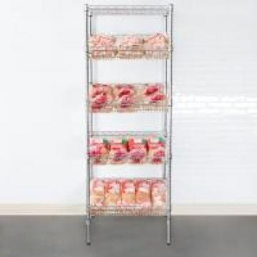 Organized Display Equipment NSF Slop Slanted Wire Shelving For Retail Shops ,
