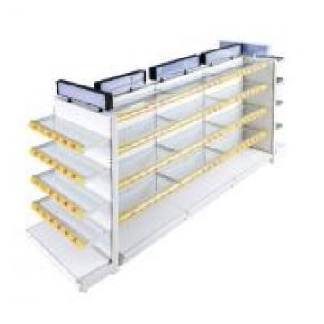Wall Glass Panel Supermarket Display Fixtures For Cosmetics / Beverage