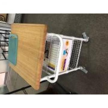 Free Standing Industrial Wire Shelving , Open White Kitchen Wire Cart Restaurant